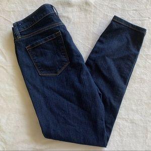 LOFT Dark Blue Wash Modern Skinny Jeans 10 Petite